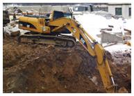 подготовка  почвы для колодцев