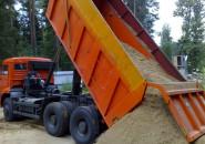 разгрузка песка