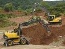 Разработка грунта и рытье котлована